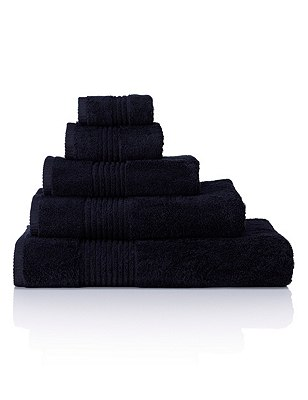 Luxury Egyptian Towel, BLACK, catlanding