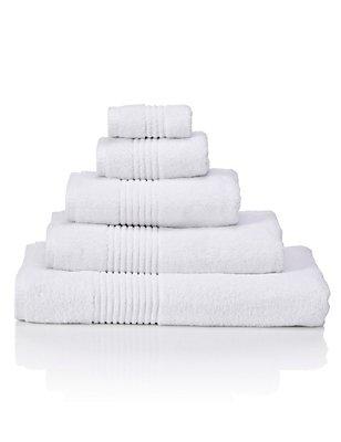 Luxury Egyptian Cotton Towel, WHITE, catlanding