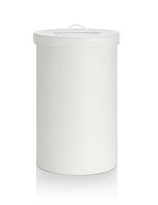 White Laundry Bin, WHITE, catlanding