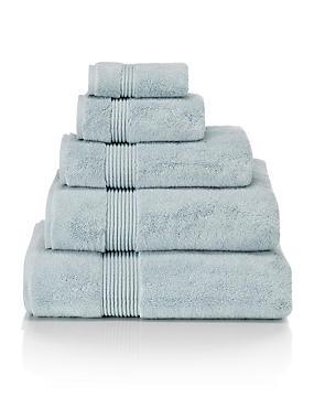 Luxury Cotton Blend Towels  , DUCK EGG, catlanding