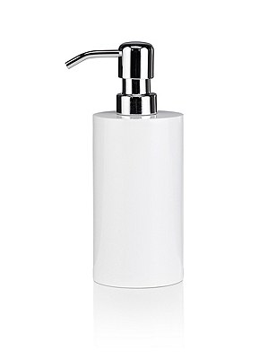 Resin Soap Dispenser, WHITE, catlanding