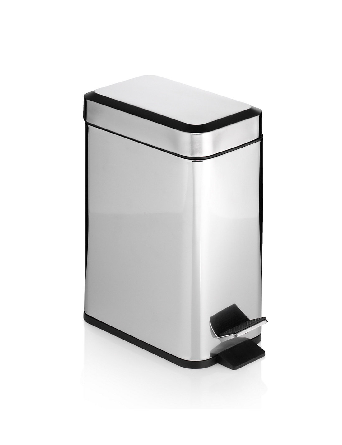 brown bathroom pedal bin