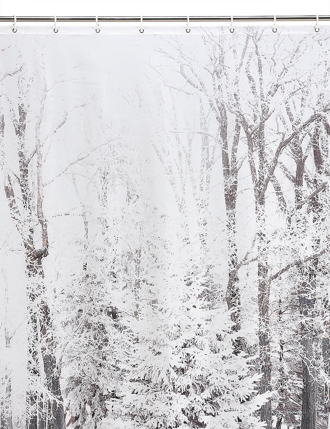 Winter shower curtain - Winter Scene Shower Curtain