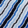 Quick Dry Striped Bath & Pedestal Mats, BLUE, swatch