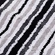Quick Dry Striped Bath & Pedestal Mats, BLACK, swatch
