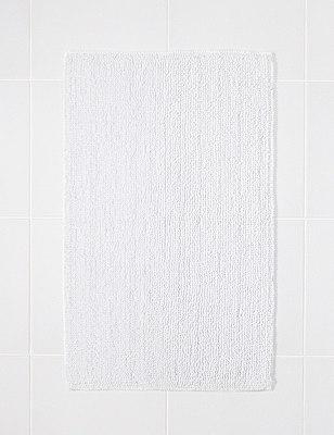 Cotton Bobble Bath Pedestal Mats, WHITE, catlanding