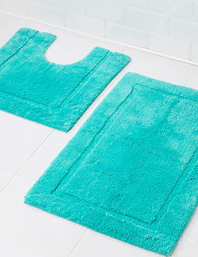 Pure Egyptian Cotton Bath Mat (£19.50) & Pedestal mats (£15), , catlanding