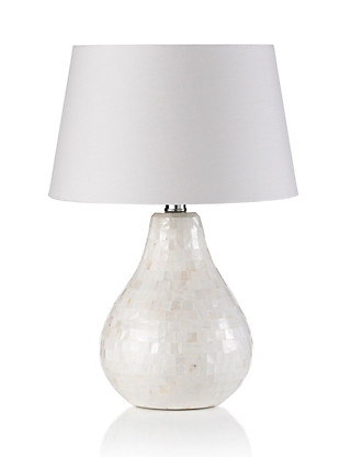 Mother of Pearl Tear Drop Table Lamp Home
