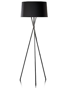 Chrome Tripod Floor Lamp, BLACK, catlanding