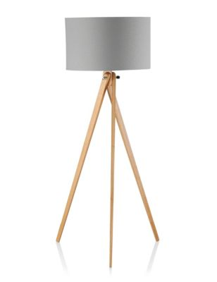 modern tripod floor lamp m s. Black Bedroom Furniture Sets. Home Design Ideas
