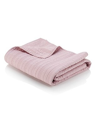 Cotton Quilted Bedspread, PINK, catlanding