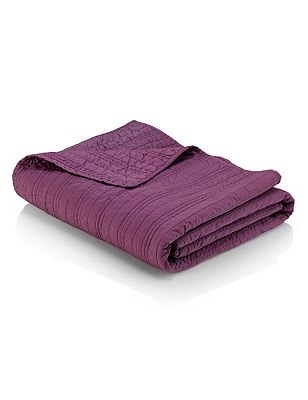 Cotton Quilted Bedspread, DAMSON, catlanding