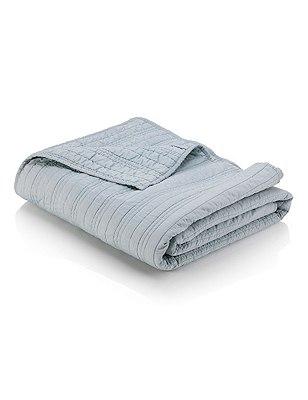 Cotton Quilted Bedspread, DUCK EGG, catlanding