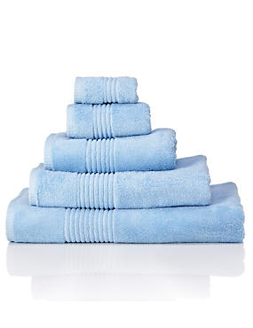 Luxury Egyptian Cotton Towel, CHAMBRAY, catlanding
