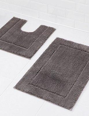 Quick Dry Bath Mat, CHARCOAL, catlanding