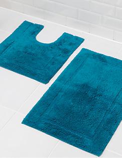 tapis de bain -m&s - Tapis Salle De Bain Bleu