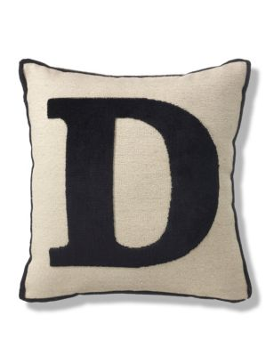Letter d cushion ms for Letter m cushion