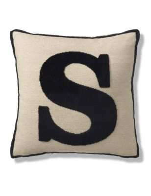 Letter s cushion ms for Letter m cushion