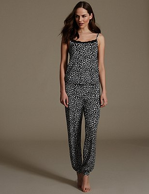 Animal Print Pyjamas, , catlanding