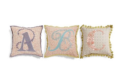 A-Z Individual Letter Cushions, , catlanding