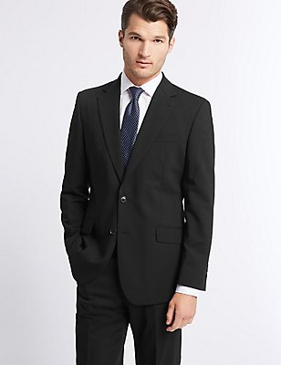 Black Regular Fit Suit, , catlanding
