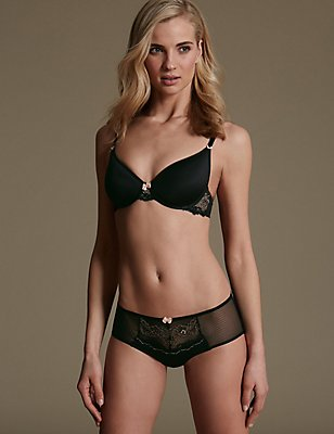 Lace Set with Underwired Padded Spacer Full Cup A-E, , catlanding