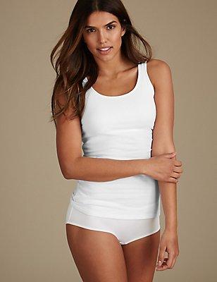 Cotton Rich Vest & Shorts Set, , catlanding