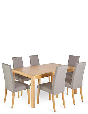 £799 for a Dining Table & 6 Chairs Bundle - save £547, , catlanding