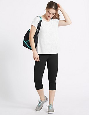 Active T-Shirt & Cropped Leggings Set, , catlanding