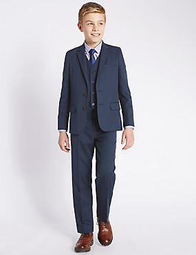 Classic Notch Lapel 2 Button Suit Including Waistcoat (5-14 Years), , catlanding