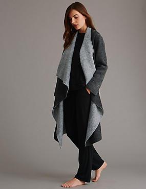 Chiffon Reversible Wrap Pyjama Set, , catlanding