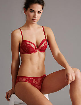 Dentelle Lace Set with Padded Balcony A-E, , catlanding