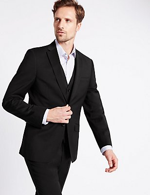 Charcoal Tailored Fit Suit , , catlanding