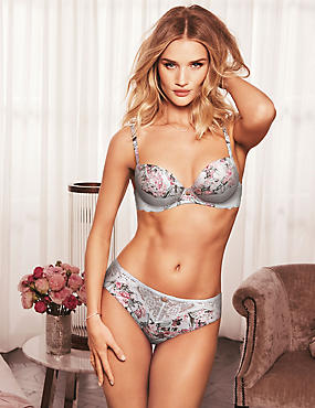 Silk & Lace Set with Padded Balcony, , catlanding