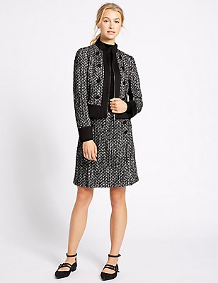 Textured Tweed Jacket & Skirt Set, , catlanding