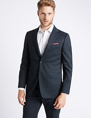Textured Regular Fit Suit, , catlanding