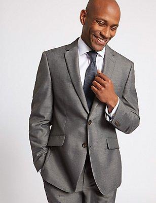 Grauer Anzug in Übergröße mit maßgeschneiderter Passform, , catlanding
