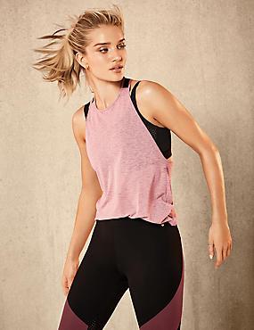 Active Elastic Back Vest Top & Leggings Set, , catlanding