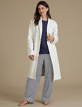 Pyjama Set with Dressing Gown, , catlanding