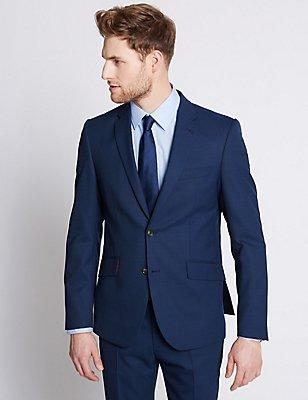 Indigo Tailored Fit Travel Suit, , catlanding