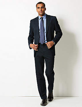 Navy Regular Fit Suit, , catlanding