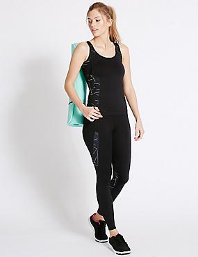 Strobe Print Vest & Leggings Set, , catlanding