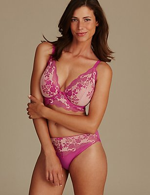 Artisan Lace Padded Set with Plunge DD-GG, , catlanding