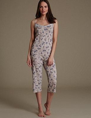 Dragonfly Print Pyjamas, , catlanding