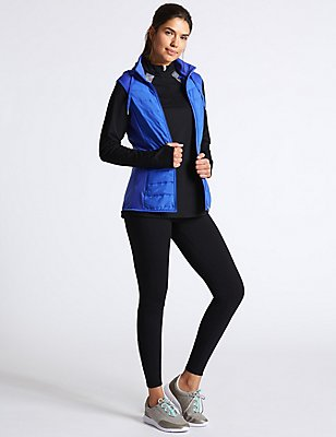 Padded Gilet Set with Top & Leggings Set, , catlanding