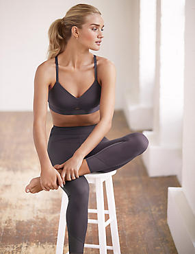 Sports Set with Non-Wired Full Cup Crop Top
