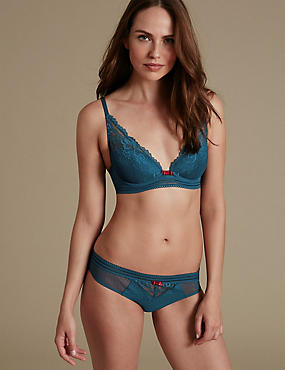 Artisan Lace Set with Plunge Padded A-E, , catlanding