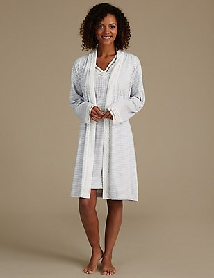 Modal Blend Dressing Gown & Nightdress Set, , catlanding