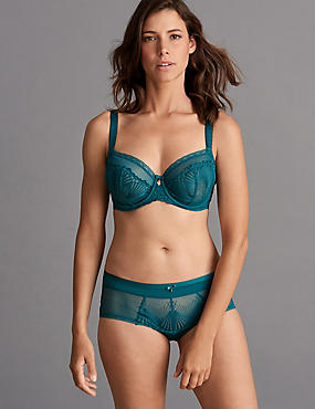 Embroidered Non-Padded Set with Balcony DD-G, , catlanding