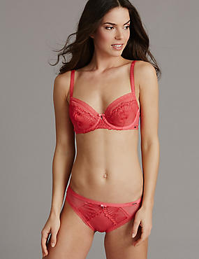 Embroidered Set with Non-Padded Balcony A-DD, , catlanding